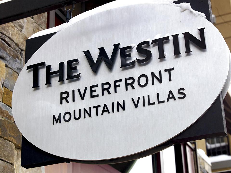 Westin Riverfront Mountain Villas sign