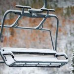 Ski Lift with First Snow - Vail