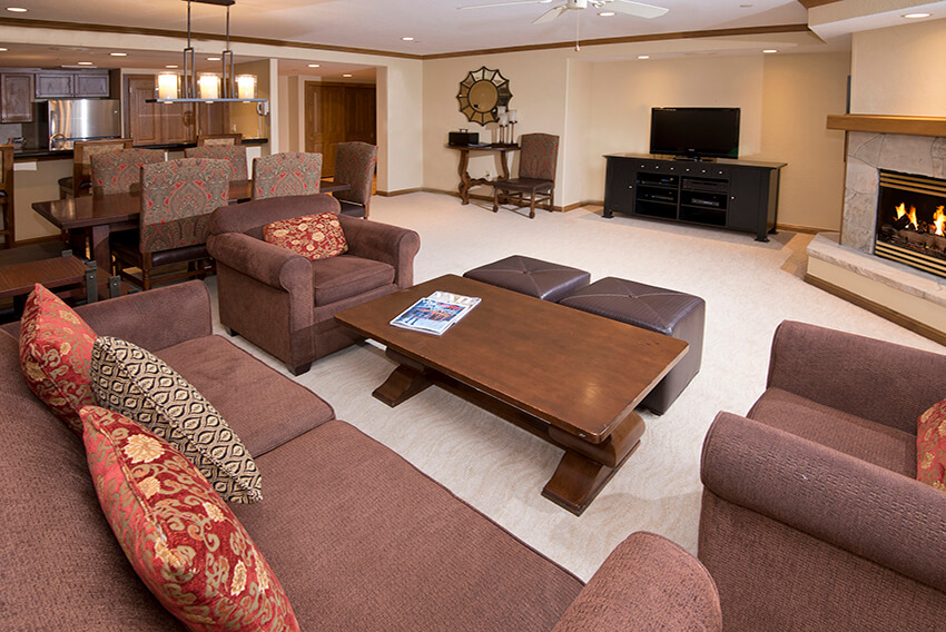living and dining areas at St. James Place