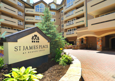 entrance to the St. James Place in Beaver Creek, CO