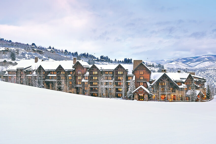 Beaver Creek slop side, luxury timeshare resort, Timbers Bachelor Gulch